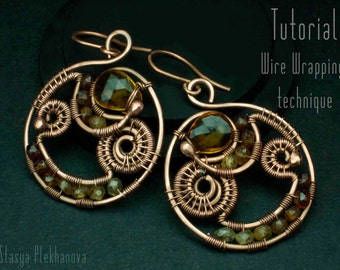 Wire Wrap Tutorial, Earrings tutorial, Wire work tutorial, Wire Wrapped Earrings, Level: Intermediate