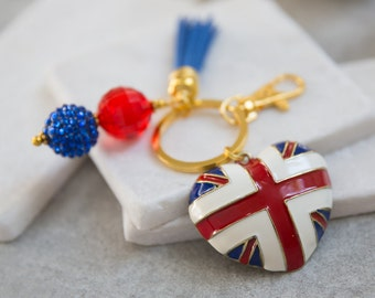 Union Jack Key Chain, UK, British Flag