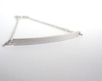 Silver Bar Bracelet, Simple Bracelet, Minimalist Jewelry, Gift For Her, Rhodium plated jewelry