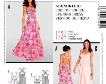 OUT of PRINT Burda Pattern 7408 Misses Evening Dress