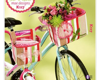 Ellie Mae Designs Pattern K0117 Bicycle Baskets Built for Two