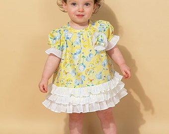 McCall's Pattern M7307 Infants' Ruffled Dresses and Panties