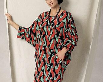 Vogue Pattern V1482 Misses' Batwing/Dolman-Sleeve Dress