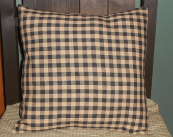 "Country Primitive Pillow Cover 12"" x 12"""
