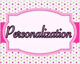 Personalization Add On