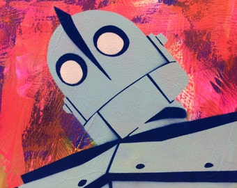 The Iron Giant - Ready to Hang Art on Stretched Canvas