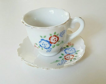 Vintage Miniature Teacup and Saucer - Made in Japan