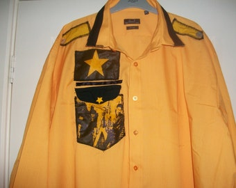 Joe Strummer The Clash Replica Yellow Male punk 77 rock retro shirt handmake to order