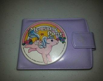 Vintage G1 My Little Pony Purple Wallet