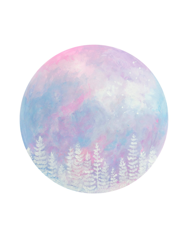 How High To Hang Paintings Moon Art Pastel Moon Moon Print Moon Painting Pastel