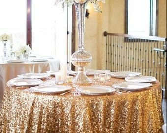 Gold Sequin Tablecloth, Gold Tablecloth, Sparkle Tablecloth, Glitter Tablecloth, Sequin Overlay, Candy Table