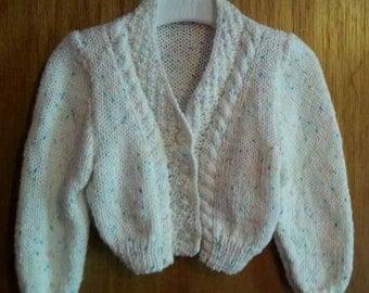 SALE* Baby cardigan, spring cardigan, baby gift, baby girl, baby boy, baby shower, knitted cardigan, special occasion, springwear, new baby