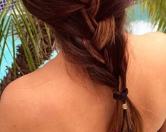 Fun & Coloful Feather Hair Tie//Ponytail//Bohemian//Boho//Tribal//Hippie//Festival//Hair Accessory//Coachella