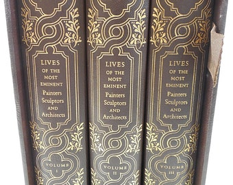 Vasari Lives of the Most Eminent Painters Sculptors + Architects 3 Vol Set 1979