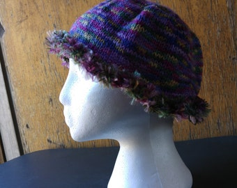 reclaimed acrylic knitted hat