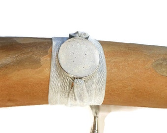 Aromatherapy Jewelry will hold Young Living and do Terra essential oil or any essential oil brand.   Wrap Bracelet Gray Color