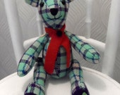 Scottish  Tweed Teddy Bear