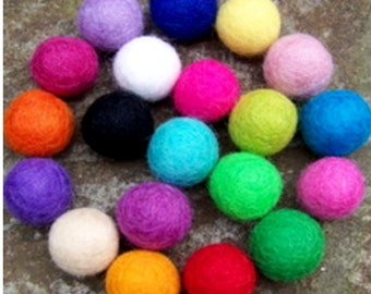 Lot of 100 pcs 2 cm Felt Fluffy Soft ball pom pom garland Wedding DIY Birthday Party Garlands Rainbow Multicolor Plush Balls