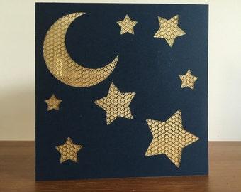 Moon and Stars Card #2