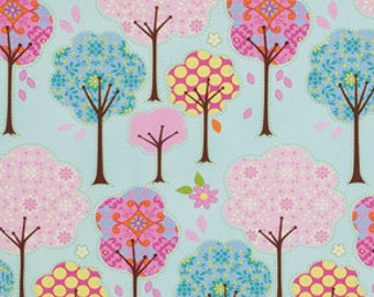 Pretty Little Things Trees on Blue, Dena Designs Free Spirit Cotton Fabric