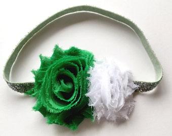 St Patricks Day, Baby Headband, St Patricks Headband, Green Baby Headband, Baby Girl Headband, Newborn Headband, Toddler Headband