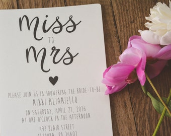 RUSTIC|Bridal Shower Invitations #9
