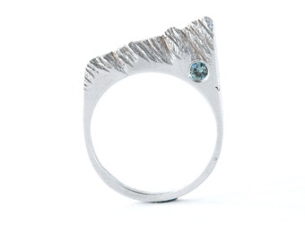Glacier Ring,  statement ring, edgy ring