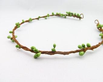 Twig Hair Crown / DIY Hair Wreath / Unfinished Hair Wreath / Green Hair Wreath