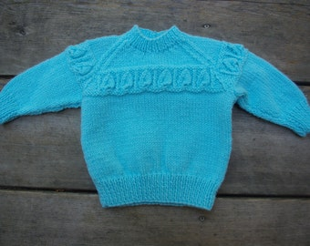 vintage baby sweater/knitted baby clothes/retro baby clothes/handmade/knitted kids