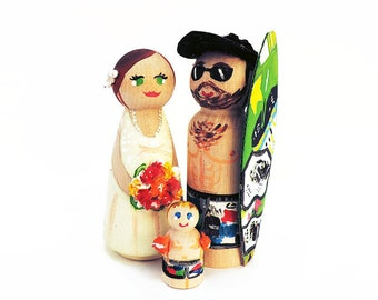 Wedding Cake Toppers surf