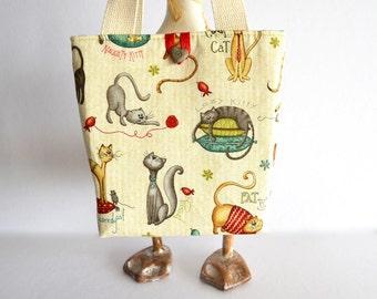 Toddler purse, kitten bag, little girls tote, kids bag, cat purse, girls handbag, girls kitten purse, gift for girl
