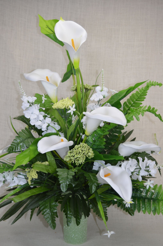 No C0133 Spring Cemetery Arrangement Spring Cone Flower