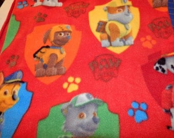 Custom made Throw Blanket with Paw Patrol Fabric - # 437