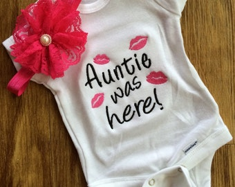 Embroidered Aunt bodysuit, Funny Aunt Shirt, new aunt gift