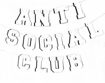 Anti-Social Club Banner w/ eyelets