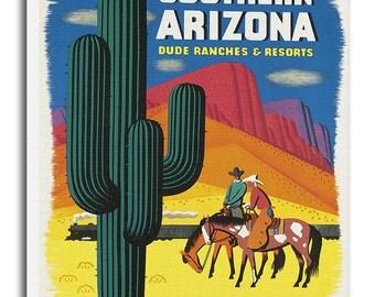 Arizona Art Canvas Travel Poster Print Hanging Wall Decor xr638