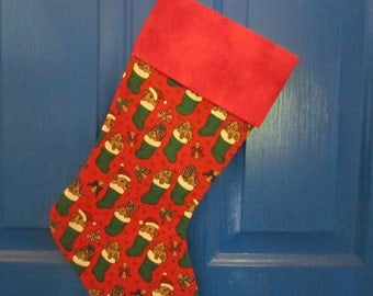 1 Christmas Stocking Puppies in Stockings