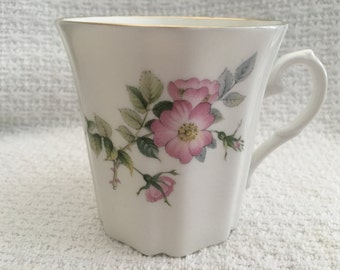 Royal Grafton, Fine Bone China, Wild Rose Jacobean Coffee Mug, Royal Grafton Mug, Wild Rose Mug, Gold Rim