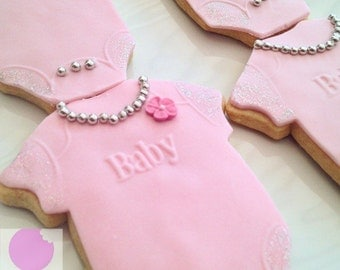 12 Baby Shower Vanilla Biscuits /Baby Shower / Cookies / Baby Shower Gift / Baby Grow / Baby Clothes