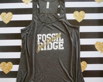 Drill team, Fossil Ridge, Sun Dancers, Racerback tank top, Women's XS-XL, Dance shirt, Dance Mom