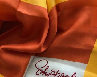 Vintage Elsa Schiaparelli Modernist Silk Scarf