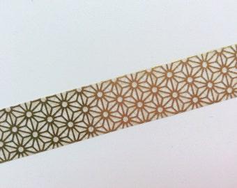 Gold geometry washi tape