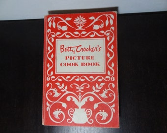 Vintage 1950 Betty Crocker's Picture Cook Book - First Edition Third Printing Hardback Cookbook