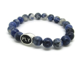 Plymouth, PLY, Plymouth Gifts, Plymouth Jewelry, Plymouth Bracelet, PLY Bead, Blue Sodalite