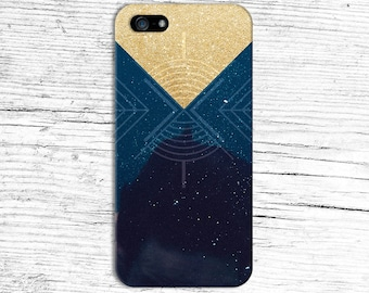 Gold Glitter Geometric Universe x Space Phone Case for iPhone 6 6 Plus iPhone 7  Samsung Galaxy s8 edge s6 and Note 5  S8 Plus Phone Case