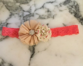 Sahbby chic flower headband