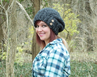 Thick Crochet Slouchy Hat