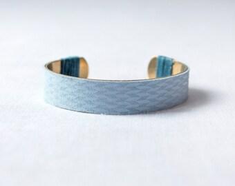 Bracelet blue leather Cleylia
