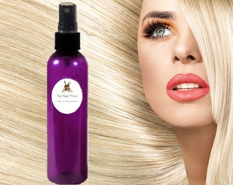 10 oz  ORGANIC Leave In HAIR CONDITIONER Spray!  Organic and Natural Ingredients! Safe, Choose Scent Chemical Free Ph Balanced!