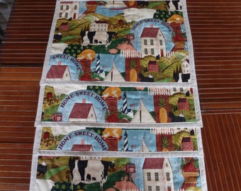 Cow Placemats, Home Sweet Home. Set of 4. Sales Benefit Music City Animal Rescue.